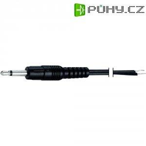 Jack kabel 2,5mm s otev. koncem mono BKL Electronic, zástrčka rovná, černá