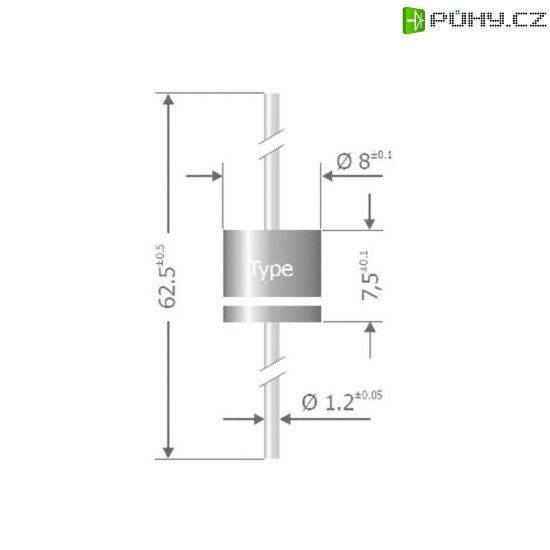 Usměrňovací dioda Diotec P 1000 J, U(RRM) 600 V, I(F) 10 A - Kliknutím na obrázek zavřete