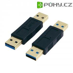 Adaptér USB 3.0, A/A, černý