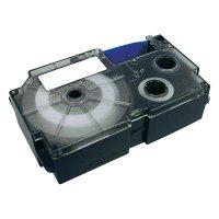 Páska do štítkovače Casio XR-6WE1, 6 mm, XR, 8 m, černá/bílá