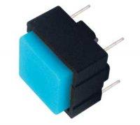 Přepínač tlačítko čtv. OFF-(ON) 12V/plošný spoj modré