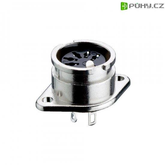 DIN kruhový konektor Lumberg 0107 04 přírubová zásuvka, rovná, Pólů: 4, stříbrná, 1 ks - Kliknutím na obrázek zavřete