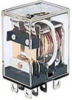 Relé HTL-2C 220V 2x kontakt 220/240VAC/10A 26x20x34mm (LY2)