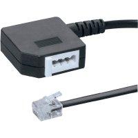 Telefon adaptér [1x RJ11 zástrčka 6p4c - 1x telefonní spojka TAE-F] 0.20 m černá