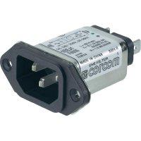 Síťový filtr TE Connectivity, 6609006-3, 2 x 10 mH, 250 V/AC, 1 A