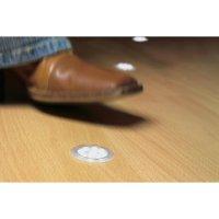 Okrasný kroužek hranatý pro UpDown Mini LED - kovově lesklý