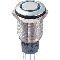 Tlačítkový spínač antivandal TRU Components LAS2GQF-11ZE/B/12V/S/P, 250 V/AC, 3 A, 1 ks