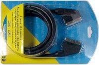 Kabel Scart-Scart 3m HiFi plast, jednotlivá stínění DOPRODEJ