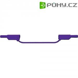 Měřicí silikonový kabel banánek 4 mm ⇔ banánek 4 mm MultiContact XVS-4075, 2 m, fialová