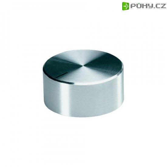 Otočný knoflík se zajišťovacím šroubem OKW, 6 mm, stříbrná - Kliknutím na obrázek zavřete