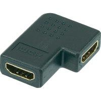 Dvojitá spojka HDMI, tvar L, 90°