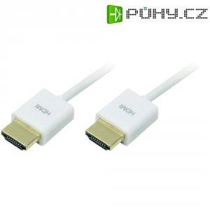 HDMI kabel, zástrčka/zástrčka, bílý, 3 m