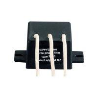 Odrušovací filtr pro elektronická zátěžová relé Crydom 3F20, cca. 25 dBµV (150 Hz - 250 KHz) dB