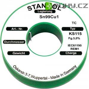 Cínová pájka PBF Sn99Cu1, Ø 1 mm, 500 g, Stannol KS115