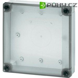 Polykarbonátové pouzdro MNX Fibox, (d x š x v) 130 x 130 x 35 mm, šedá (MNX PC 125/35 LT)