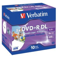 Verbatim DVD+R DL 8,5GB 8X 10 ks JC PRINT