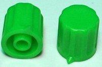 Přístrojový knoflík KP1404, 14x15mm, hřídel 4mm, zelený