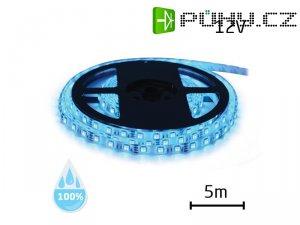 LED pásek 12V 3528 60LED/m IP68 max. 4.8W/m modrá (1ks=cívka 5m) voděodolný