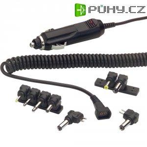 Adaptér do auta se spirálovitým kabelem a redukcemi Voltcraft