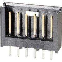 Kolíková lišta MOD II TE Connectivity 280508-2, přímá, 2,54 mm, černá