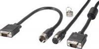 VGA kabel pro instalaci do ochranné trubky, 10 m, černý