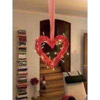 Svítící srdce LED Konstsmide, červené