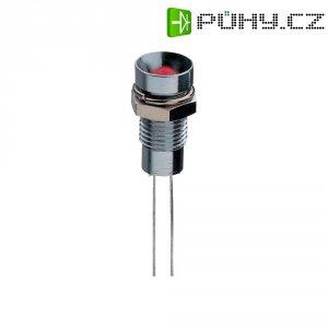 LED dioda 5 mm, vnitřní reflektor, zelená
