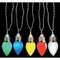 Solární světelný řetěz Polarlite Kegel, PSL-01-003, 10 LED žárovek, barevná