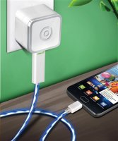 Dexim USB cestovní dobíječ green shiny white (EU Blister)