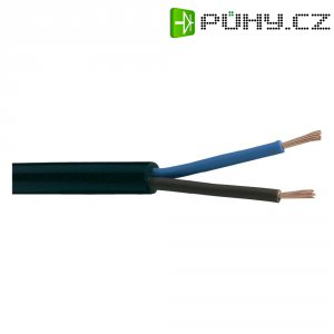 PVC kabel H03VV-F 3x0,75, délka 10 m - černá