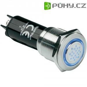 Sirénka / kontrolka, 80 dB 12 V/DC, 19 mm, IP40, modrá