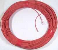 Vodič-lanko 0,5mm2 červený silikonový, balení 100m