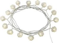 Dekorační řetěz s koulemi vnitřní Polarlite, 16 LED, teplá bílá, 3 m