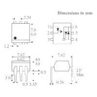 Optočlen Isocom Components MOC3063XSMT/R, DIL 6 SMD
