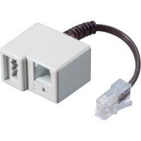ISDN adaptér Wentronic RJ45/TAE-N+RJ11, 0,2 m, bílá