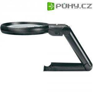 Lupa s osvětlením a stojánkem Toolcraft 821010, 88 mm, 2x/4x