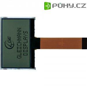 LCD displej Gleichmann, GE-O12864C2-TFH/R, 6,5 mm, bílá/černá