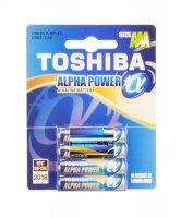 BAT ALPHA POWER LR03 4BP AAA TOSHIBA