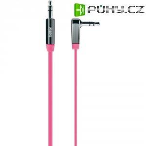 Připojovací kabel Belkin, jack zástr. 3.5 mm/jack zástr. 3.5 mm, růžový, 0,9 m