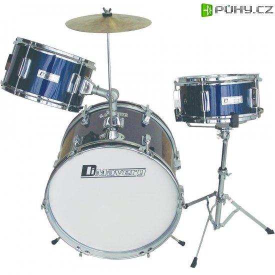 Dětská bicí souprava, modrá - Kliknutím na obrázek zavřete
