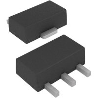 LDO regulátor napětí Microchip Technology MCP1703T-3302E/MB, 3,3 V, 250 mA, SOT-89-3
