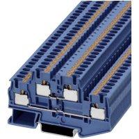 Svorka Push In Phoenix Contact PITTB 4 BU (3211793), 2násobná, 6,2 mm, modrá
