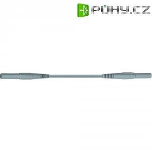 Měřicí silikonový kabel banánek 4 mm ⇔ banánek 4 mm MultiContact XMF-419, 0,5 m, šedá