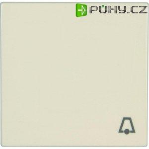 Krytka vypínače se symbolem zvonku Jung, LS 990 K, krémově bílá