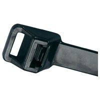Rozepínací stahovací pásek s očkem UV odolný Panduit PRT6EH-C0, 564 x 12,7 mm, černá