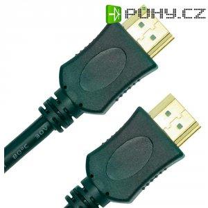 HDMI připojovací kabel, zástrčka/zástrčka, 1,5 m, černý