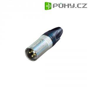 XLR kabelová zástrčka Neutrik NC 3 MXX-EMC, rovná, 3pól., 4 - 7 mm, stříbrná