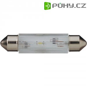LED žárovka Signal Construct MSOC083164, 24 V DC/AC, bílá, podlouhlá