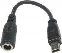 "Redukce DC 2,1mm-USB ""B"" mini konektor na káblíku 10cm"