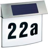 Domovní číslo se solárním LED osvětlením Esotec Vision, 102200, nerez